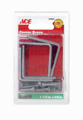 Ace Inside L Corner Brace 1-1/2 in. x 5/8 in. Galvanized Steel