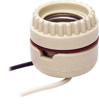 Leviton Keyless Socket 660 watts 250 volts White