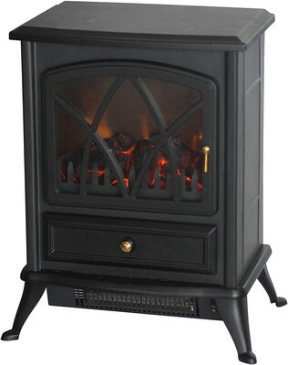 Comfort Glow Ashton Electric Stove Black 1500W