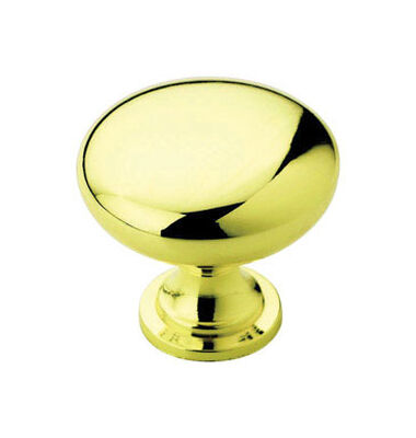 Amerock Allison Round Furniture Knob 1-1/4 in. Dia. 1-1/8 in. Polished Brass 10 pk