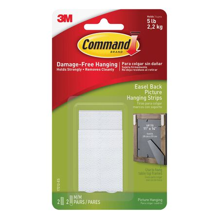 Command Plastic Easel-Backed Picture Hanging Strips 2 pk 5 lb.