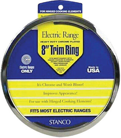Stanco Chrome-Plated Steel Range Trim Ring 8 in.