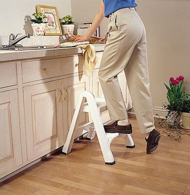 Rubbermaid 2 Step 300 lb. Plastic Folding Step Stool