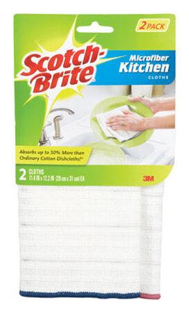 Scotch-Brite Kitchen Microfiber Cleaning Cloth 12.2 in. W x 11.4 in. L 2 pk