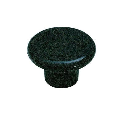 Amerock Allison Round Furniture Knob 1-1/4 in. Dia. 3/4 in. Black 1 pk