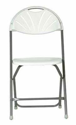 Living Accents 1 Position Folding Chair White