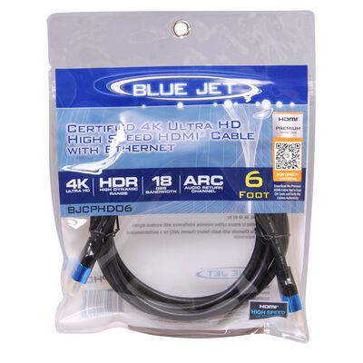 Blue Jet 6 ft. L High Speed HDMI Cable with Ethernet