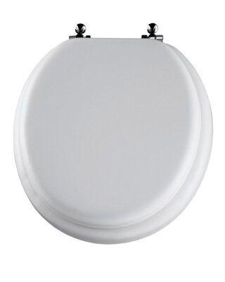 Mayfair Vinyl Cushioned Toilet Seat Round White
