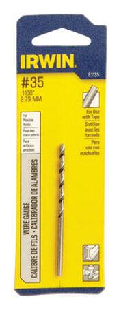 Irwin High Speed Steel Straight No.35 Dia. Wire Gauge Bit 1