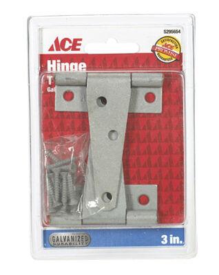 Ace Steel Light Duty T Hinge 3 in. L Galvanized 2 pk