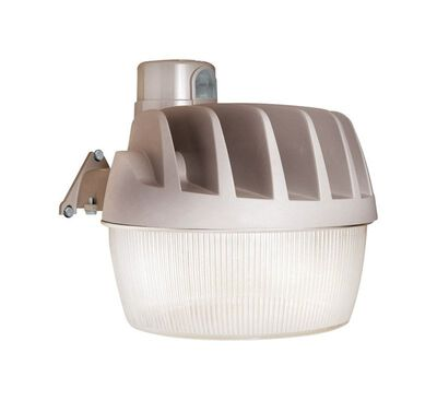 All-Pro Dusk to Dawn LED Gray Yard/Barn Light 33.4 watts 1 pk