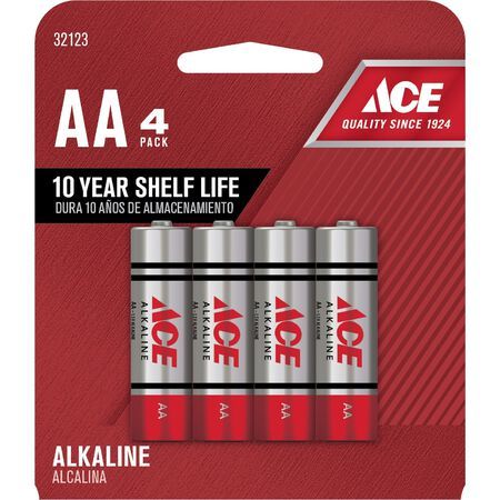 Ace AA Alkaline Batteries 1.5 volts 4 pk