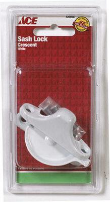 Ace White Chrome Sash Lock White 1