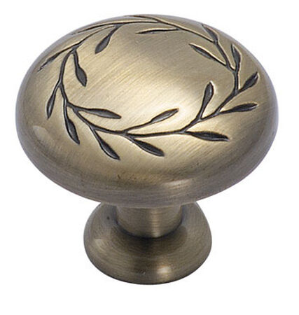 Amerock Inspirations Round Furniture Knob 1-1/4 in. Dia. 1-13/16 in. Elegant Brass 1 pk