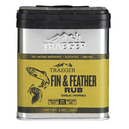 Traeger Fin & Feather Garlic and Paprika Seasoning Rub 5.5 oz.