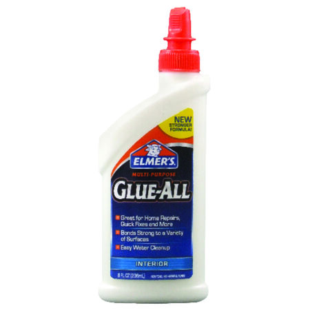 Elmer's Glue-All High Strength Polyvinyl acetate homopolymer All Purpose Adhesive 8 oz.