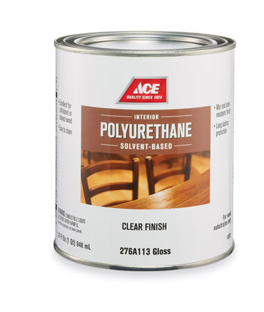 Ace Gloss Clear Solvent-Based Polyurethane 1 qt.