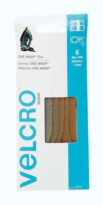 Velcro 8 in. L x 1/2 in. W Strap 6 pk