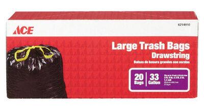 Ace 33 gal. Trash Bags Drawstring 20 pk