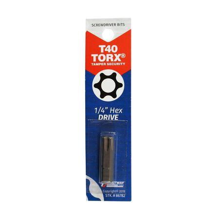 Best Way Tools T40 Torx Screwdriver Bit 1/4 in. Dia. x 1 in. L 1 pc.