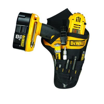 DeWalt 3 pocket Black/Yellow Ballistic Nylon Drill Holster 12 in. H x 7.3 in. L x 2 in. W