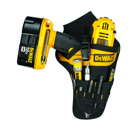 DeWalt 3 pocket Black/Yellow Ballistic Nylon Drill Holster 12 in. H x 7.3 in. L x 2 in. W