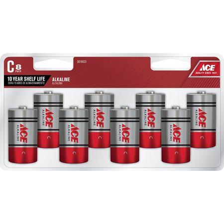 Ace C Alkaline Batteries 1.5 volts 8 pk