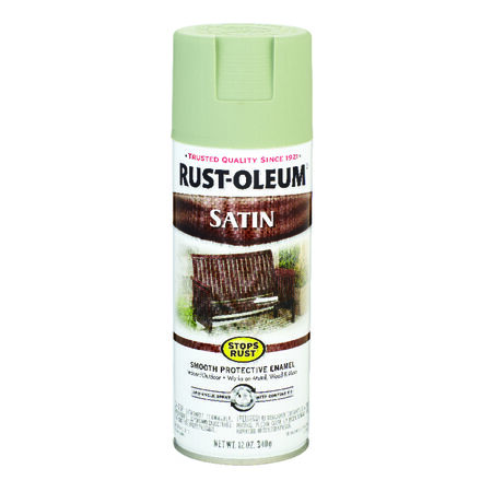 Rust-Oleum Stops Rust Satin Spruce Green Spray Paint 12 oz.