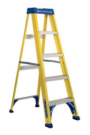 5 ft Louisville FS2005 Fiberglass Step Ladder, Type I, 250 lb Load Capacity