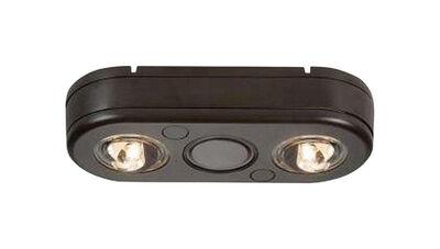 All-Pro Revolve 180 deg. On/Off Activation LED Bronze Outdoor Flood Light 1 pk