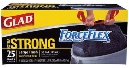 Glad ForceFlex 30 gal. Trash Bags Drawstring 25 pk