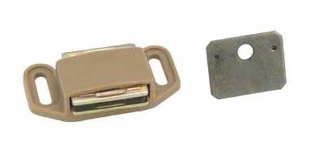 Amerock 1.1 in. W Tan Plastic Magnetic Catch
