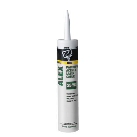 DAP Alex White Acrylic Latex Caulk 10.1 oz.