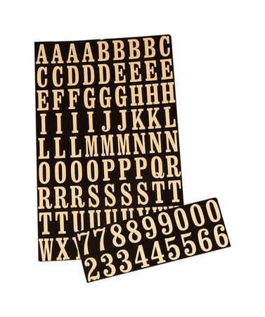 Hy-Ko Self-Adhesive Black Reflective Polyester Letters and Numbers 0-9 and A-Z 1 in.