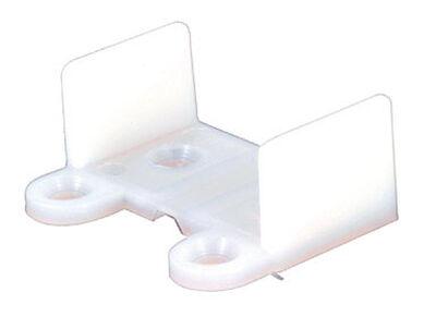 Prime-Line Bottom mount Pocket Door Slide Guide White 1 pk