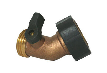 Camco Water Connector with 45 Degree Valve 1 pk