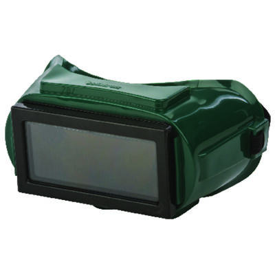 Forney Welding Goggles Black Lens Black/Green Frame