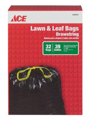 Ace 39 gal. Lawn & Leaf Bags Drawstring 32 pk