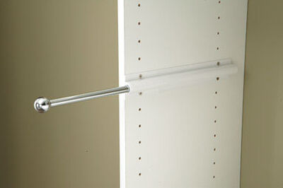 Easy Track 14 in. L x 4 in. H x 1 in. W Sliding Wardrobe Rod White