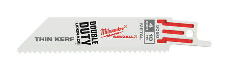 Milwaukee 4 in. L 10 TPI Bi-Metal Sawzall Blade 5 pk
