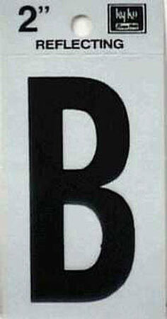 Hy-Ko Self-Adhesive Black Reflective Vinyl Letter B 2 in.