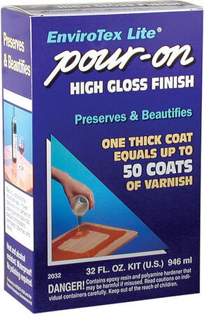 EnviroTex Lite Indoor Clear Gloss Pour-On High Gloss Finish 32 oz.