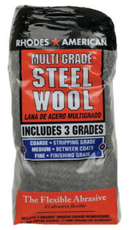 Rhodes American 0000 Grade Medium Steel Wool Pad 12 pk