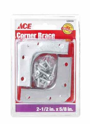 Ace Outside Corner Brace 2-1/2 in. x 5/8 in. Zinc