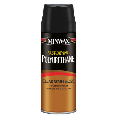 Minwax Semi-Gloss Clear Fast-Drying Polyurethane 11.5 oz.