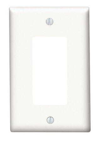 Leviton 1 gang White Thermoset Plastic Rocker/GFCI Wall Plate 1 pk