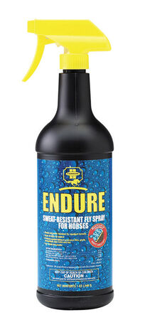 Farnam Endure Sweat-Resistant Fly Spray for Horses Insect Killer For Biting Insects 32 oz.