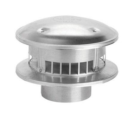 Selkirk 4 in. Aluminum Stove Pipe Metalbestos Top