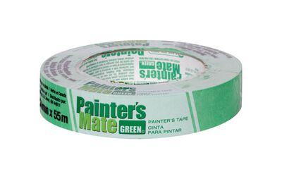 Painter's Mate 0.94 in. W x 60 yd. L General Purpose Masking Tape Medium Strength Green 1 pk