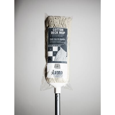 Lanier Deck Mop With Handle Cotton and Metal Bagged